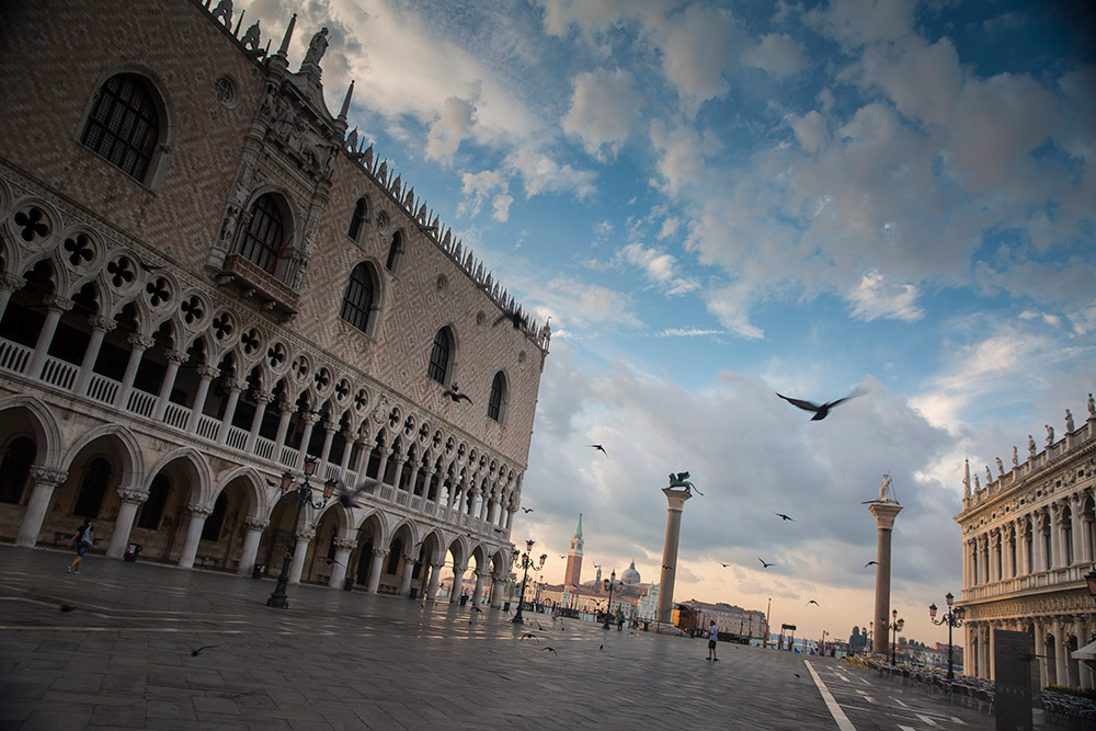 The Piazza San Marco has been the subject of many paintings through the years.