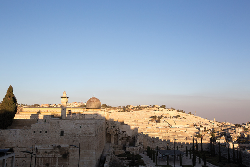 A view of Jerusalem.