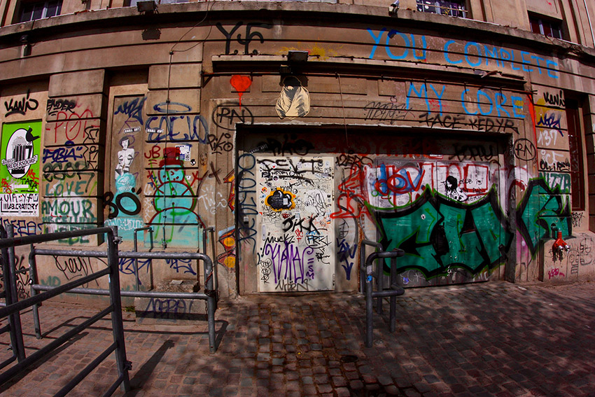 The front door to the famous club and Sven Marquardt's post. Photo courtesy Juska W.