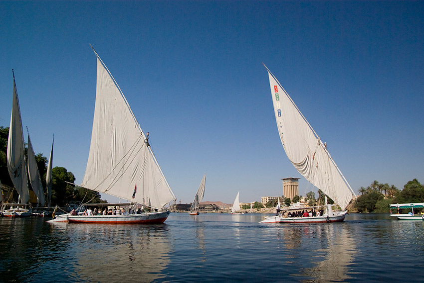 Felucca cruises offer travellers a slow meander through history.