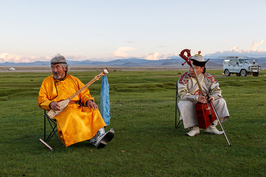 Throat singing is one of the most important rituals in Mongolia. Photo courtesy Alan F.