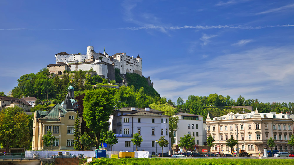 Start the day at the Hohensalzburg Fortress and end it climbing down rock faces at Strubklamm.