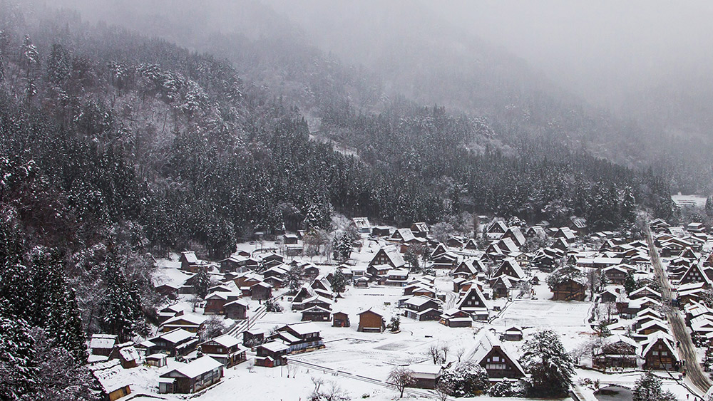The picturesque village of Shirakawa-go covered in snow. Photo courtesy Choh Wan Y.