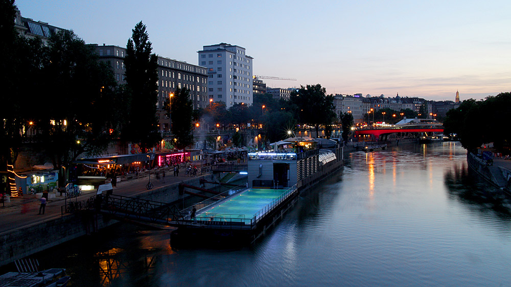 Cool off in Kreuzberg at Badeschiff. Photo courtesy Christian K.