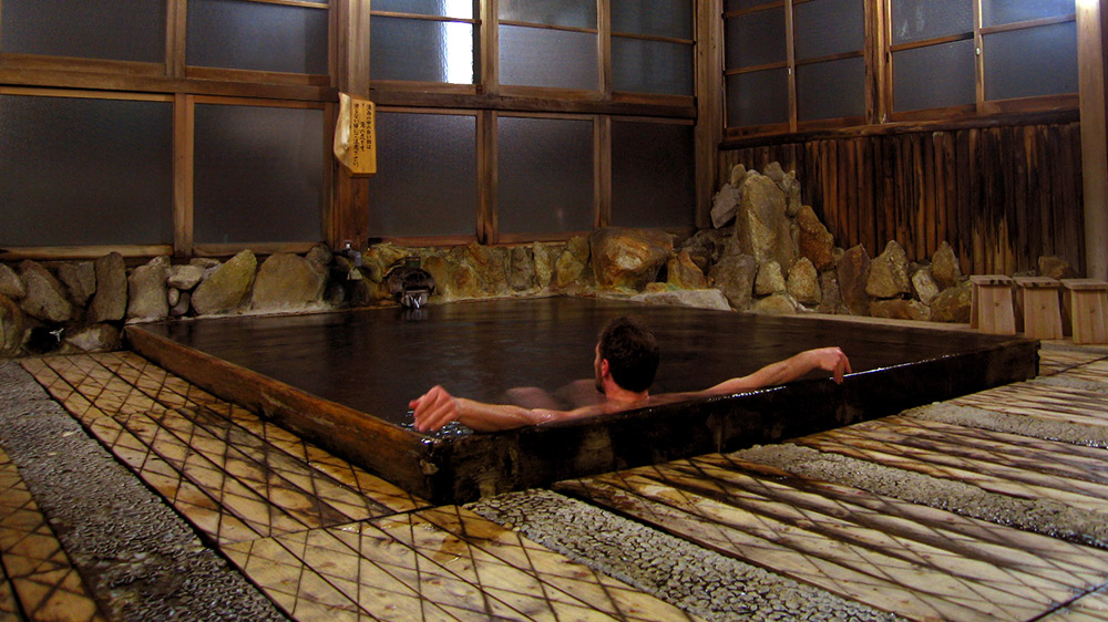 Escape the cold outdoors with a soak in a traditional onsen. Photo courtesy Samuel B.