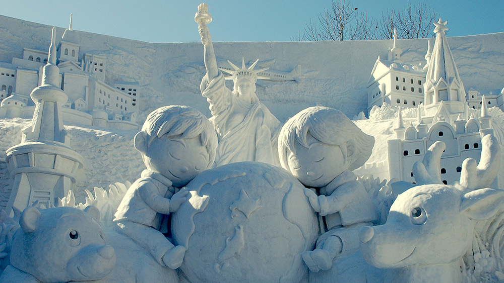 There's no shortage of artistry on display at the Snow Festival. Photo courtesy Small World.