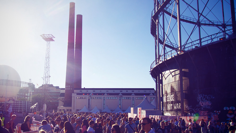 The Flow Festival takes place in the middle of an old power plant. Photo courtesy Maria M.