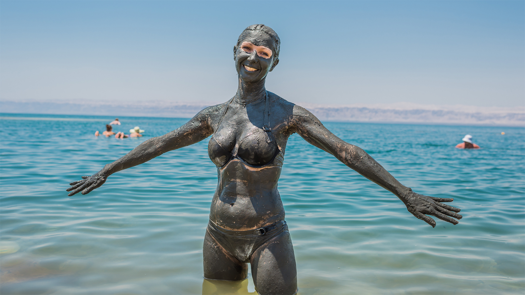 The dark mud of the Dead Sea has long been renowned for its rumoured health properties.