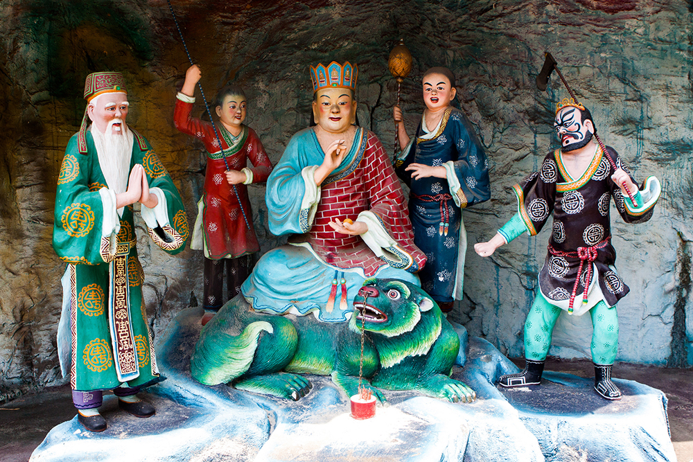 Some of the statues on display at Haw Paw Villa. Photo courtesy of Jirka M.