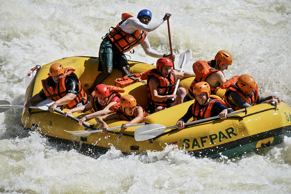 White water rafting down the Zambezi is a must-do.