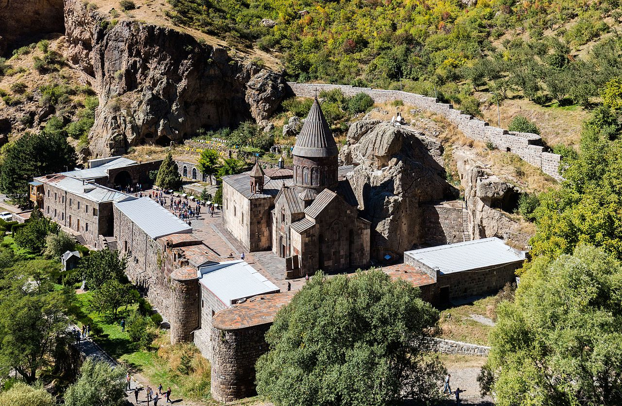 Geghard Monastery. Photo courtesy of Wikipedia Commons.