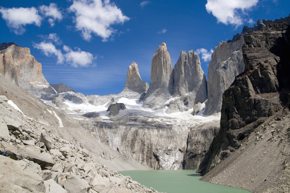 The Torres del Paine offers some striking scenery. Photo courtesy Richard Lindie, Dreamstime.