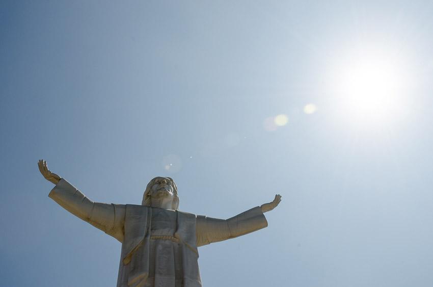 The Cristo del Pacífico.