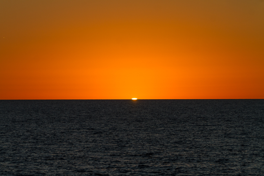 """Even a """"boring"""" sunset with no land in sight is a thing of beauty in Mexico."""
