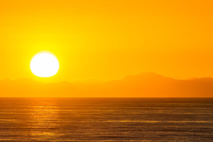The sun goes down over the Baja Peninsula.