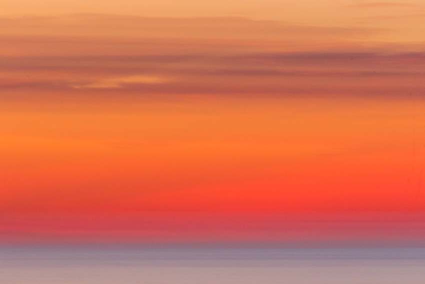 When standard sunset or sunrise photographs get to be too much, abstract representations take over.