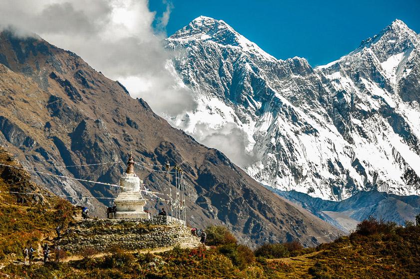 The trail to Mt Everest. Sagarmatha National Park, Nepal.