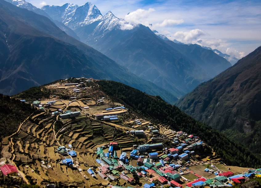 Namche Bazar, the last major village before Everest.