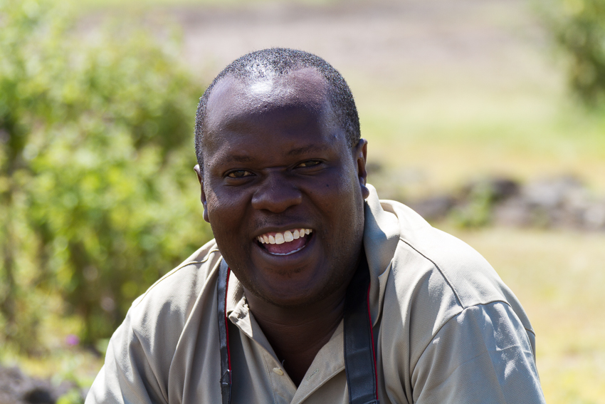 Our guide, Ebenezer, in Tanzania.