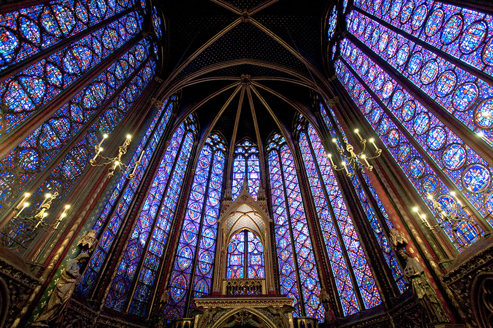 Sainte-Chapelle in Paris, France. Photo courtesy gnosne.