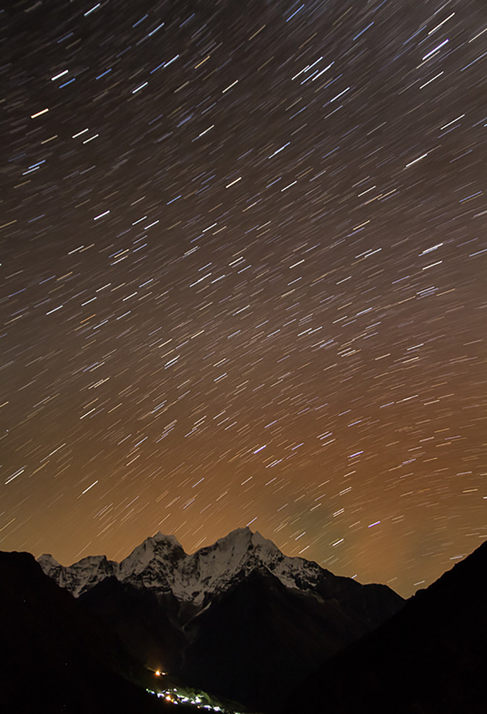 To create star trails, experiment with the shutter speed setting.