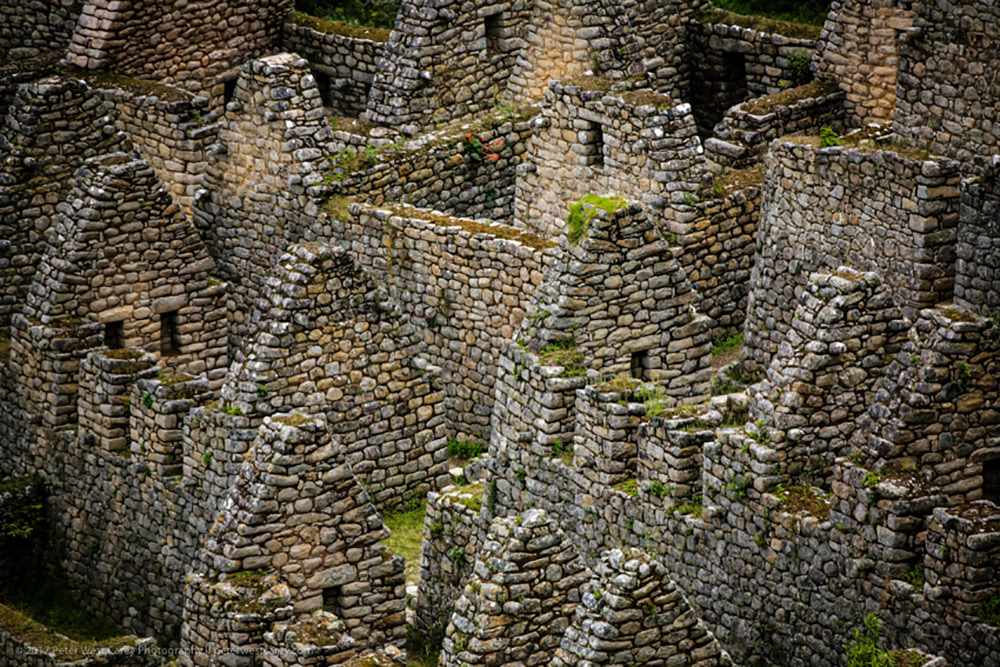 The uniformity of the Inca Trail's ruins makes it easy to get lost among them.