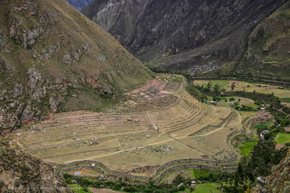 The agricultural terraces of the Inca Trail.
