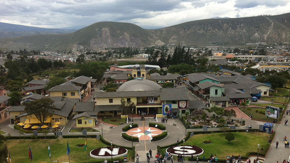 La Mitad del Mundo is a day trip from Quito. Photo courtesy Andrew W.