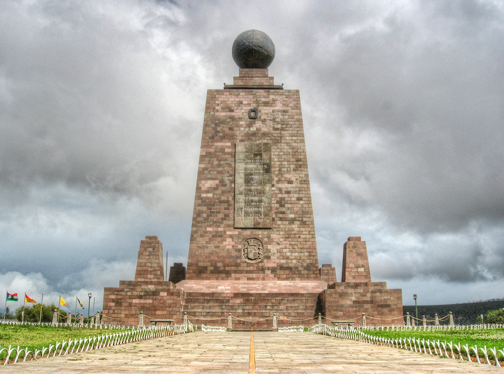 The monument at la Mitad del Mundo. Photo courtesy Paulo.