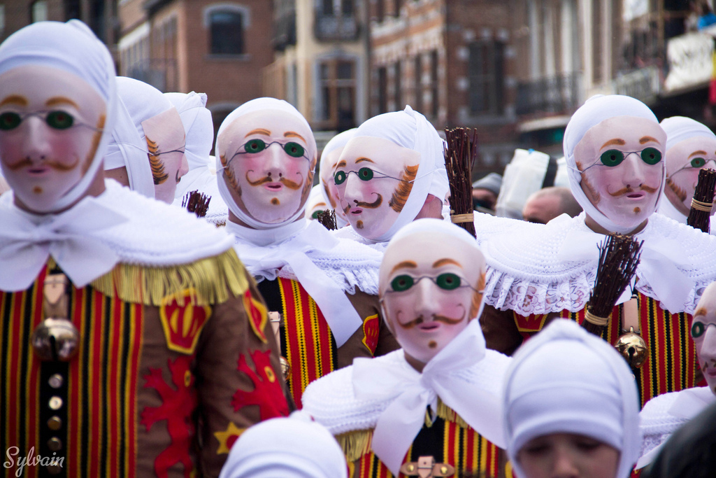 The masked Gilleses of Binche. Photo courtesy Sylvain L.
