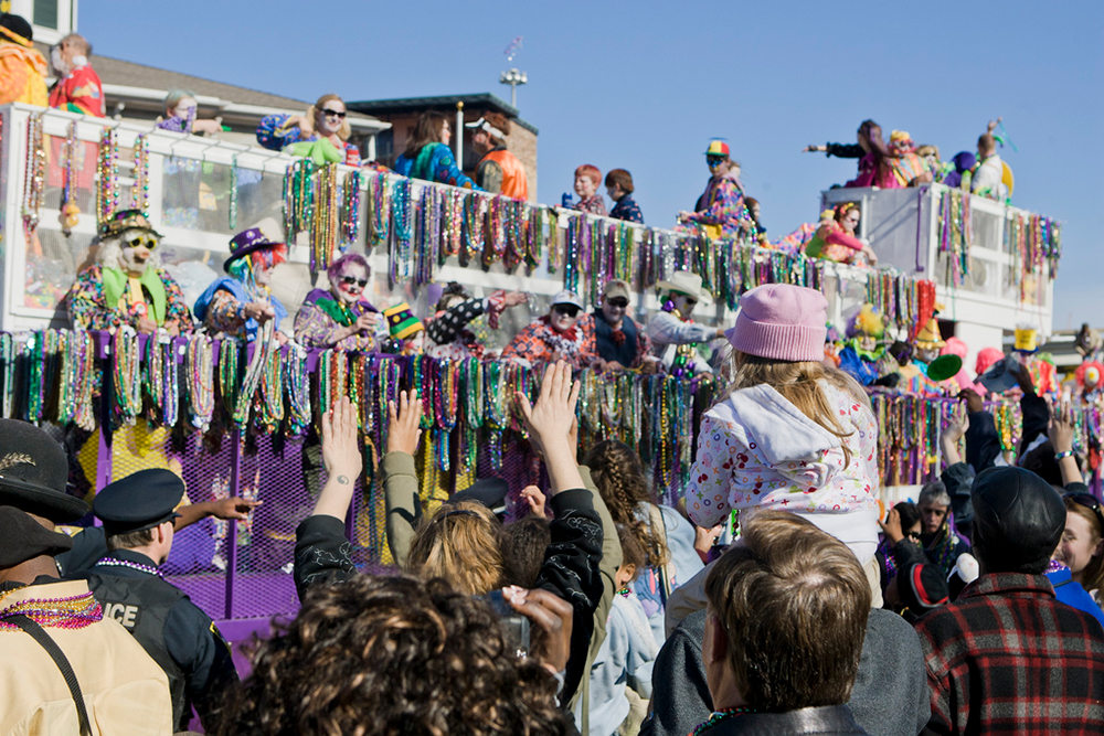 Mobile, Alabama's Mardi Gras celebrations were the first of their kind in the United States. Photo courtesy Pieter M.