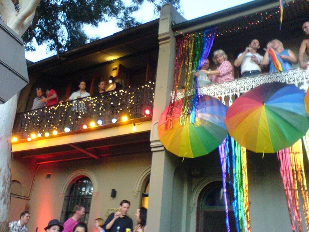 Attendees celebrate at Sydney's annual LGBTQ Mardi Gras party. Photo courtesy Iain C.