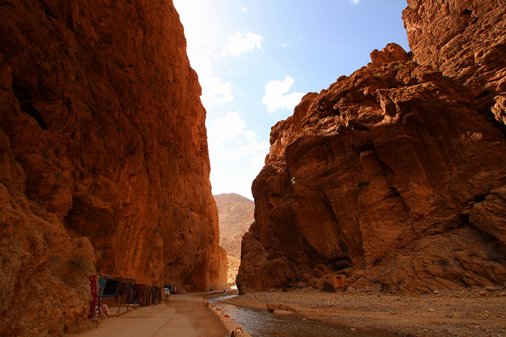 The Todra Gorge offers incredible hiking opportunities. You can also rock climb here, if you're feeling a bit more adventurous. Photo courtesy of Singa H.