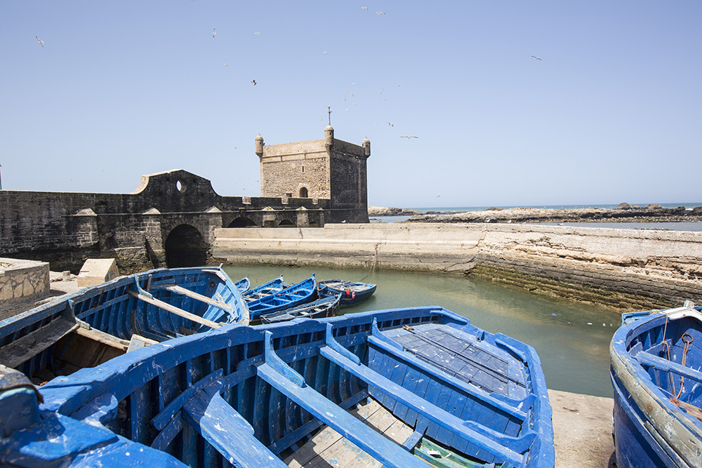 Essaouira's scenic coastline is a great surf spot.