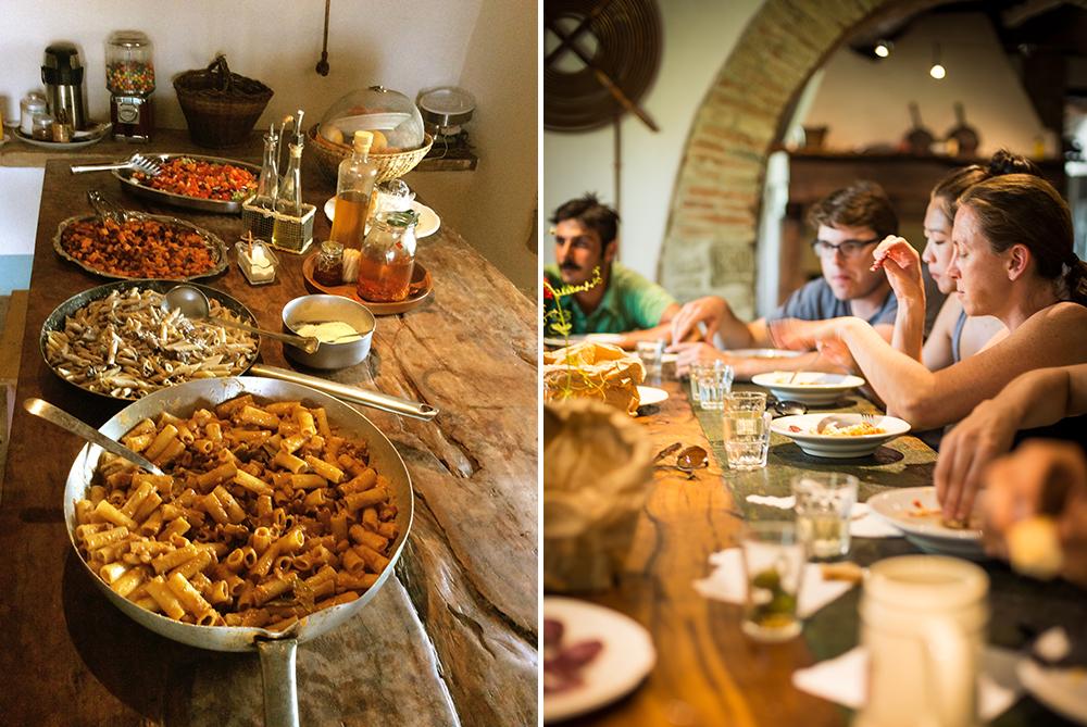 Dining at Monestevole, the site of G Adventures' Local Living Umbria tour.