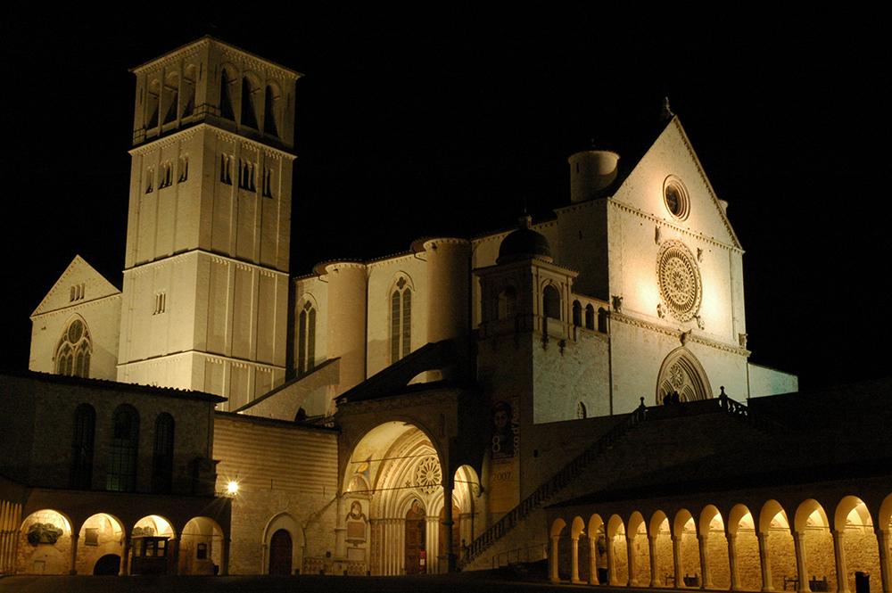 Umbria's famous Basilica of Saint Francis of Assisi. Photo courtesy of Giancarlo.
