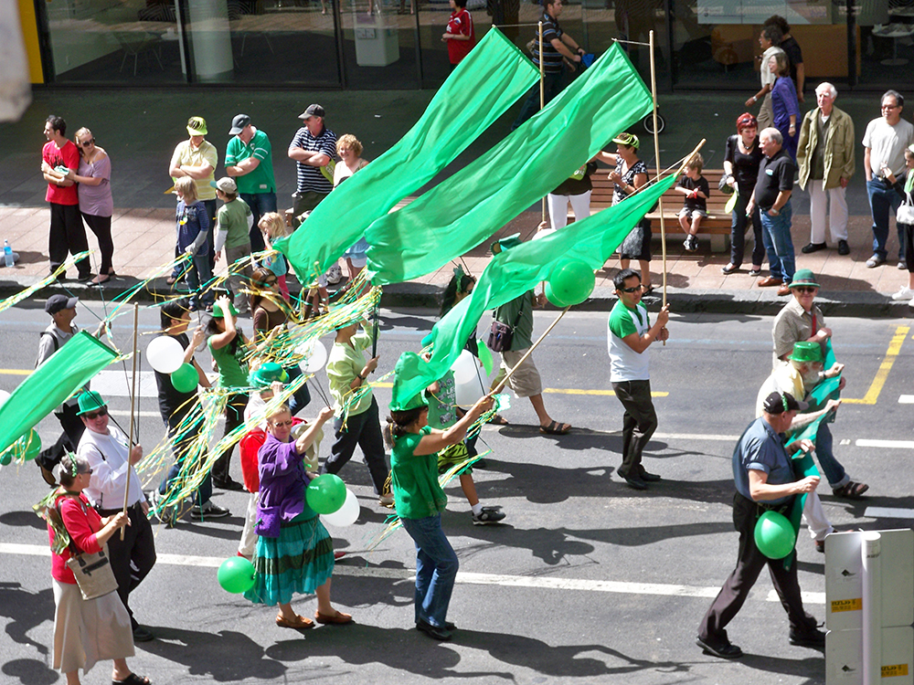 Auckland hosts a St. Patrick's Day parade every year. Photo courtesy of eightson.