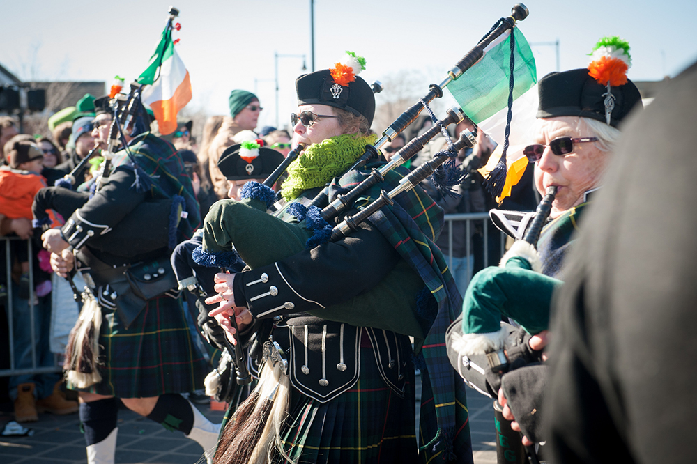 Boston's St. Patrick's Day parade is an annual tradition. Photo courtesy of the Massachusetts Office of Travel & Tourism.