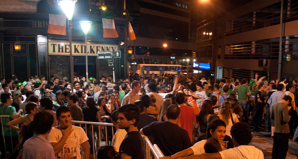 Revellers enjoy St. Patrick's Day festivities in downtown Buenos Aires. Photo courtesy of Gustavo Facci.