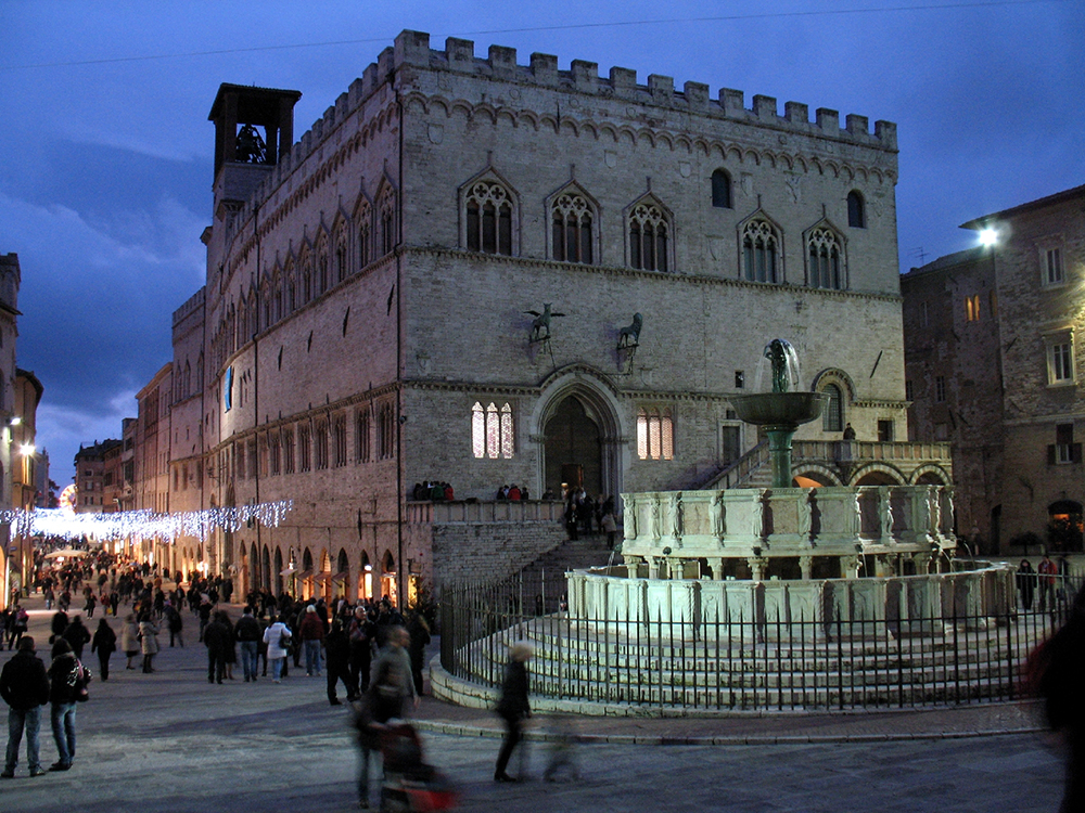 Perugia's Palazzio del Priori contains the National Gallery of Umbria's collection. Photo courtesy of Gengish Skan.