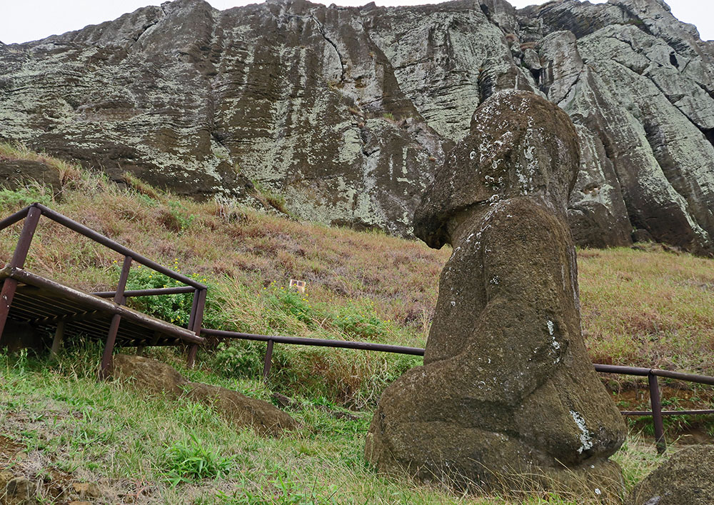 Tukuturi, on Easter Island, looks nothing like the famed island's other ancient statues.