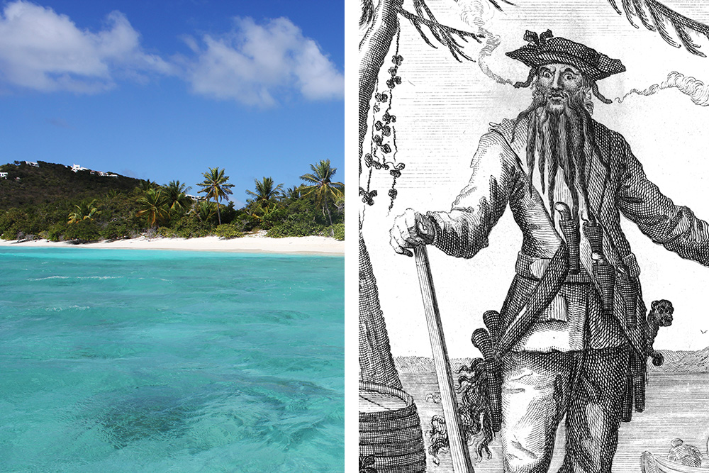 Did famed pirate Blackbeard ever actually sail to the British Virgin Islands? Blackbeard illustration courtesy of Wikipedia Commons.