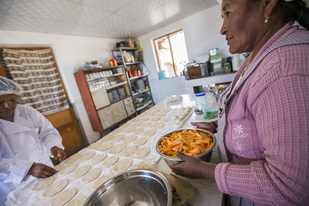 The kitchen of the Jukil Community Lodge.