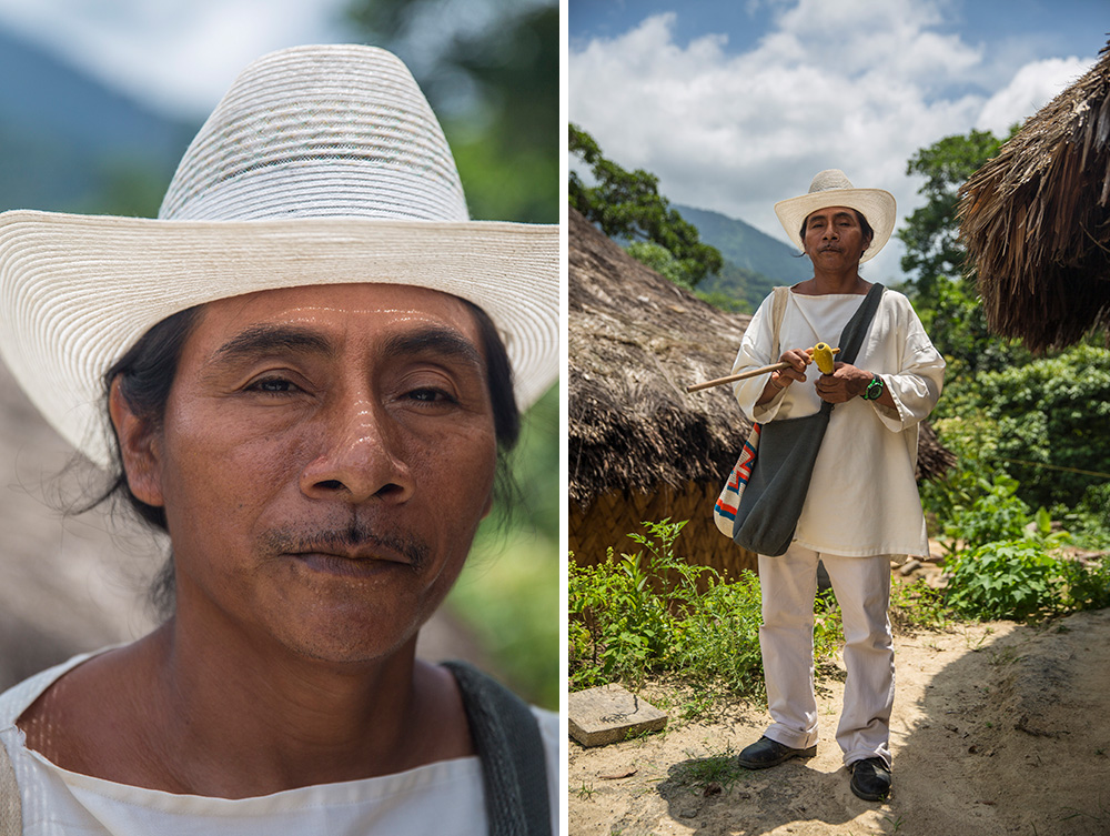 One of the Wiwa men who will interact with G Travellers in Colombia.