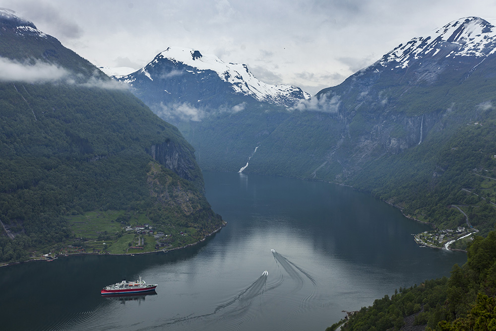 Norway's Geirganger Fjords.