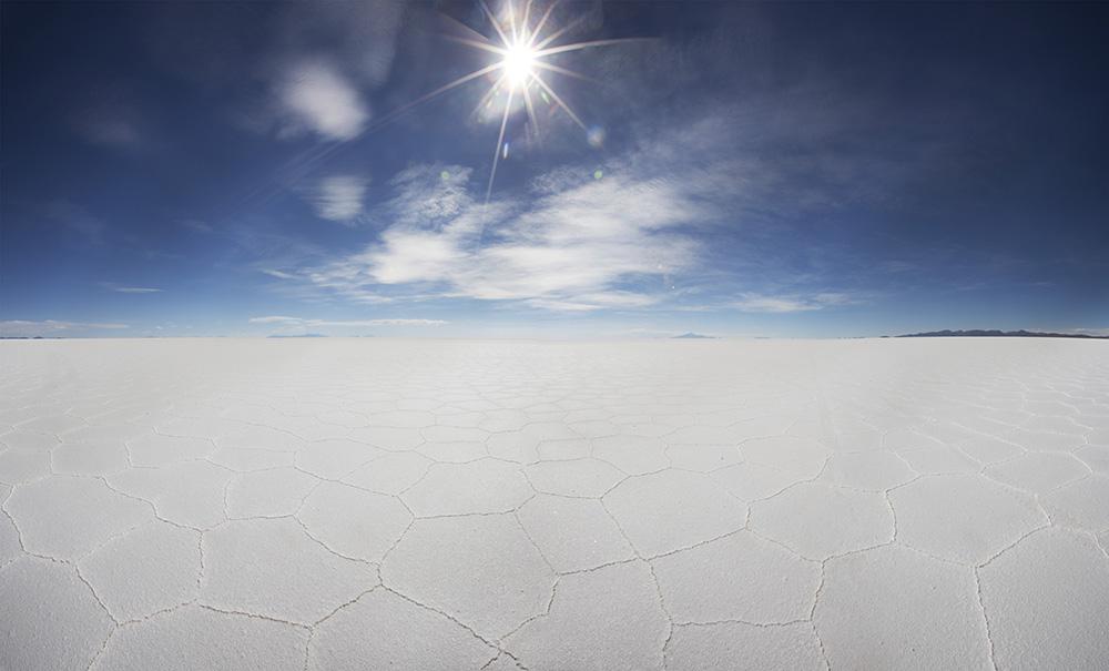 The salt flats of Uyuni, Bolivia.