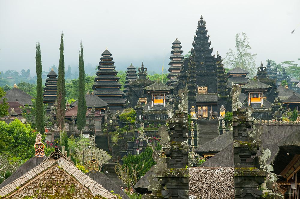 Pavilion Towers at Besakih Temple.