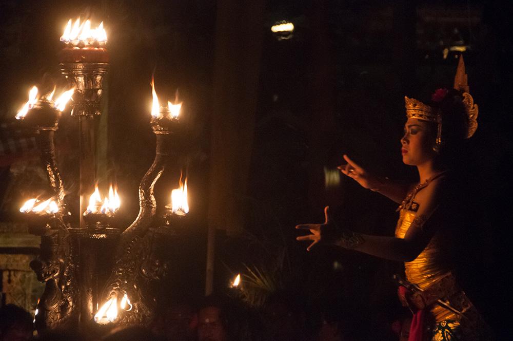 Kecak Dance in the evening at Pura Taman Saraswati.