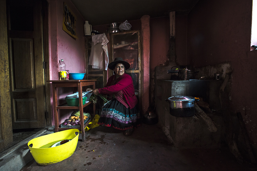 """""""I'm happy to host travellers,"""" this woman in Peru told photographer Oana Dragan. """"We get to learn so many different things from them. Because of the support we get from tourism I can also support my family. Sometimes when my husband doesn't have a job we can still make money so I have no worries."""""""
