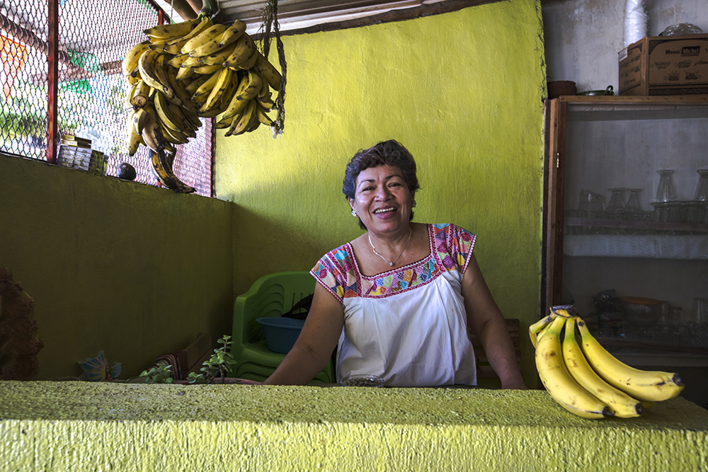 """I am happy with my business and for the fact that I get to work with my family,"" this woman, photographed in Mexico, said. ""My girls make very delicious tortillas. They are experts in the kitchen. I believe young people need to learn how to appreciate life and not take it for granted. They need to appreciate the value of hard work."""